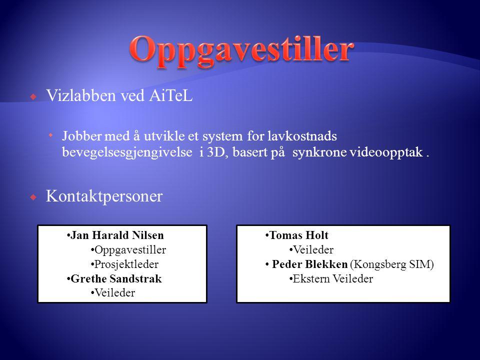 Oppgavestiller Vizlabben ved AiTeL Kontaktpersoner
