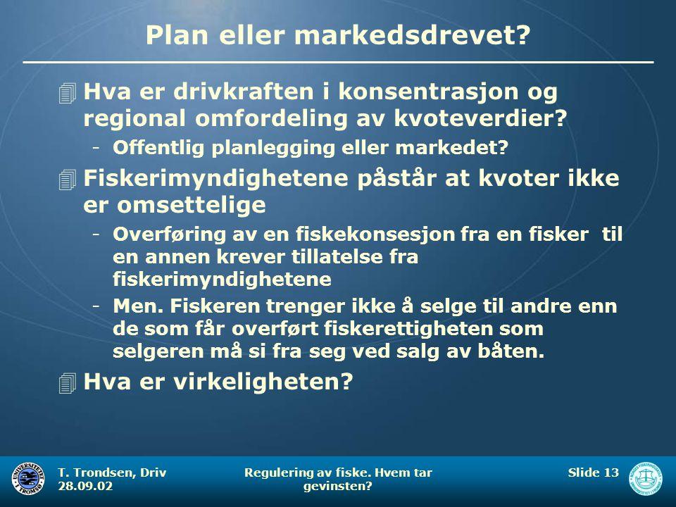 Plan eller markedsdrevet