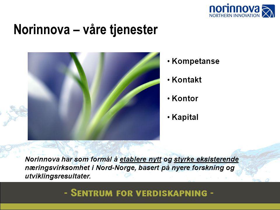 Norinnova – våre tjenester