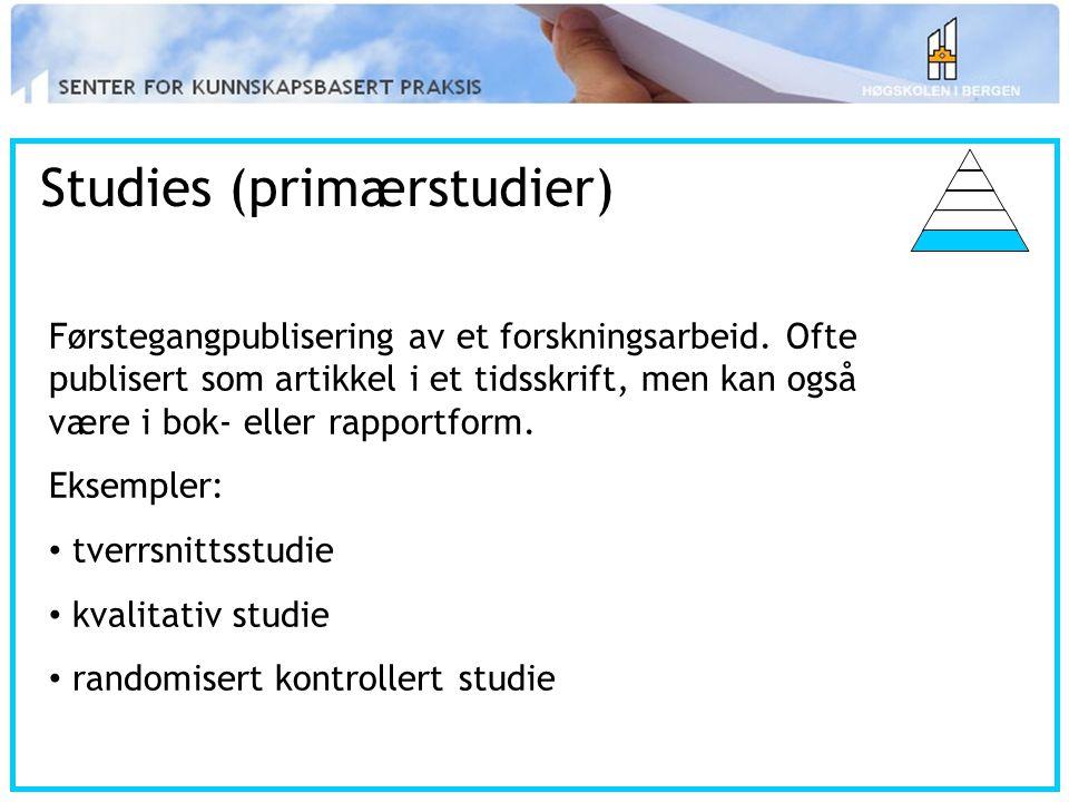 Studies (primærstudier)