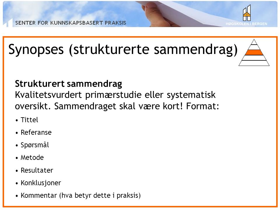 Synopses (strukturerte sammendrag)