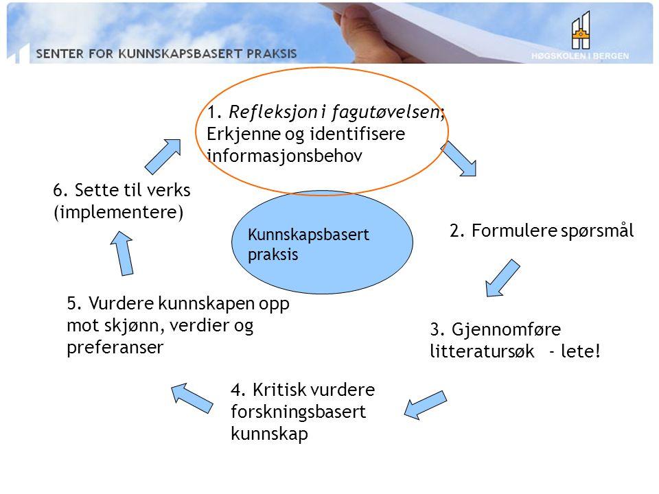 3. Gjennomføre litteratursøk - lete!