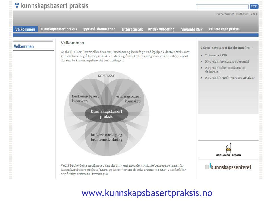 www.kunnskapsbasertpraksis.no