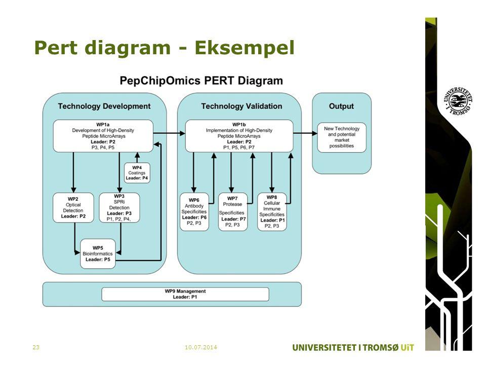 Pert diagram - Eksempel