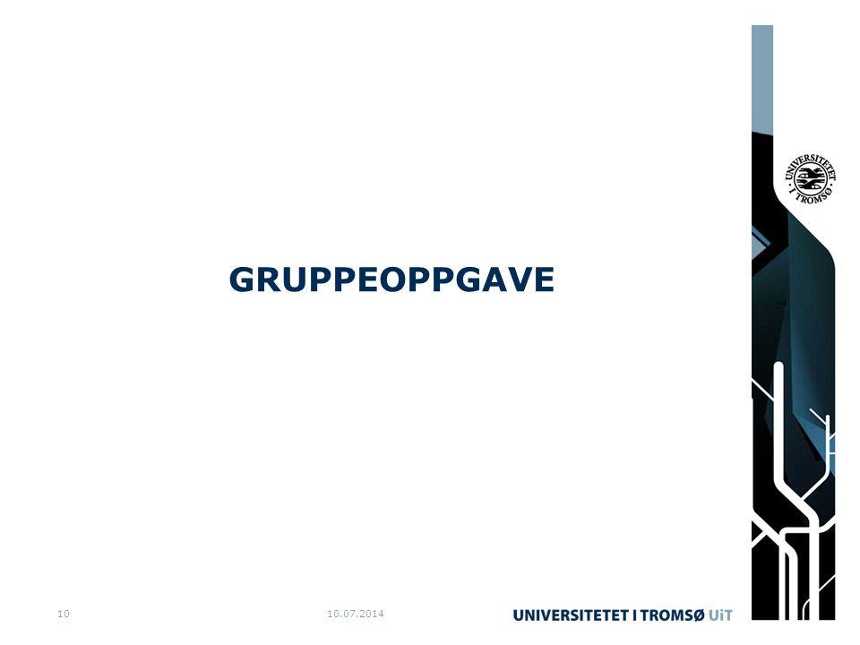 GRUPPEOPPGAVE 04.04.2017