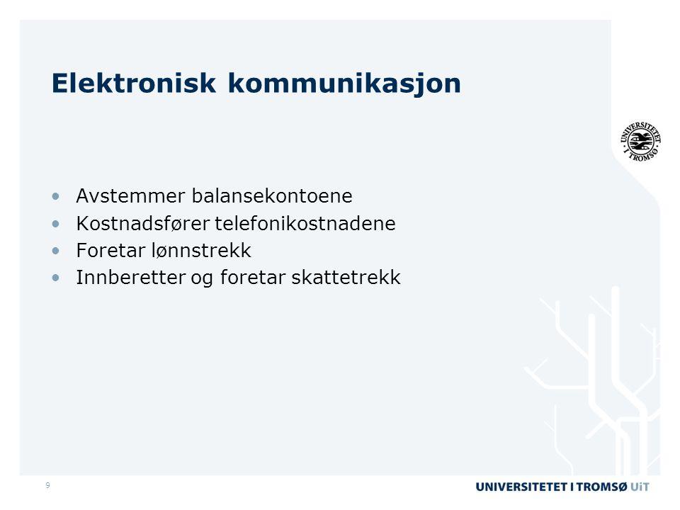 Elektronisk kommunikasjon
