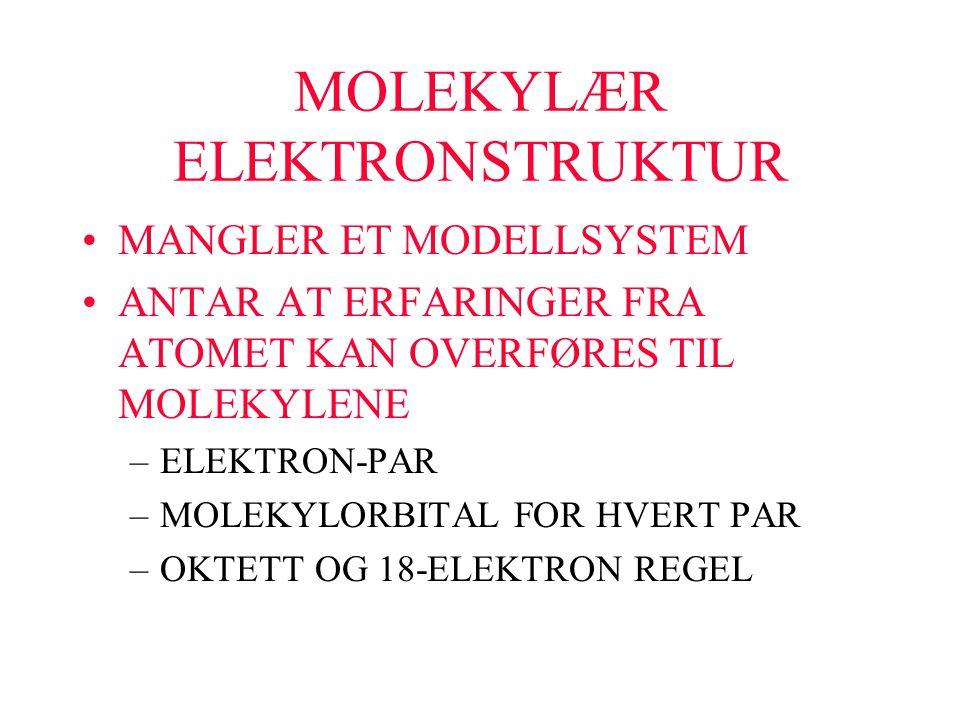 MOLEKYLÆR ELEKTRONSTRUKTUR