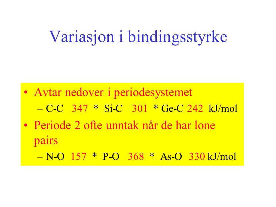 Variasjon i bindingsstyrke