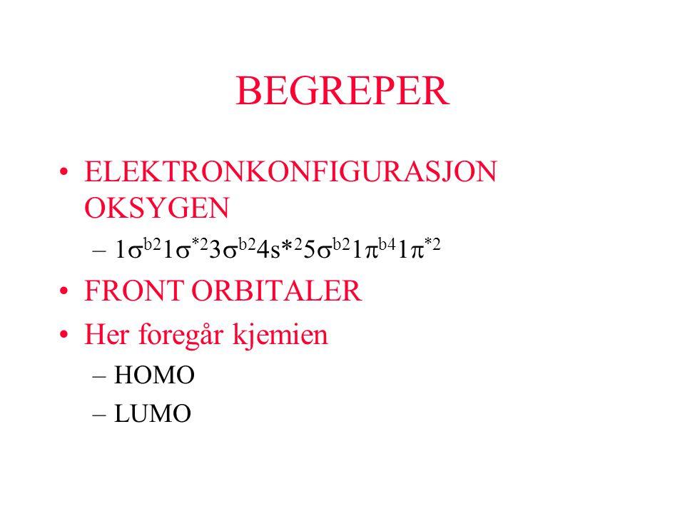 BEGREPER ELEKTRONKONFIGURASJON OKSYGEN FRONT ORBITALER
