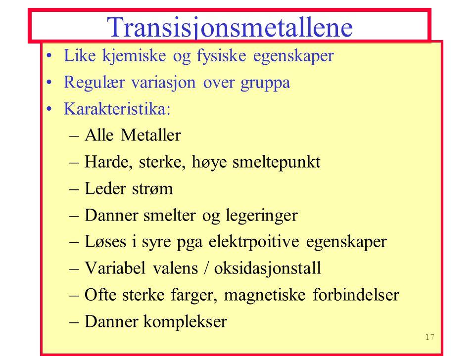 Transisjonsmetallene