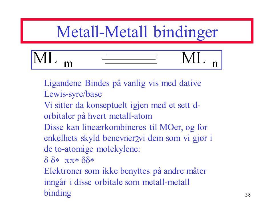 Metall-Metall bindinger