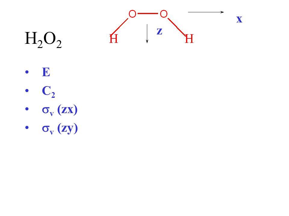 x H2O2 z E C2 sv (zx) sv (zy)