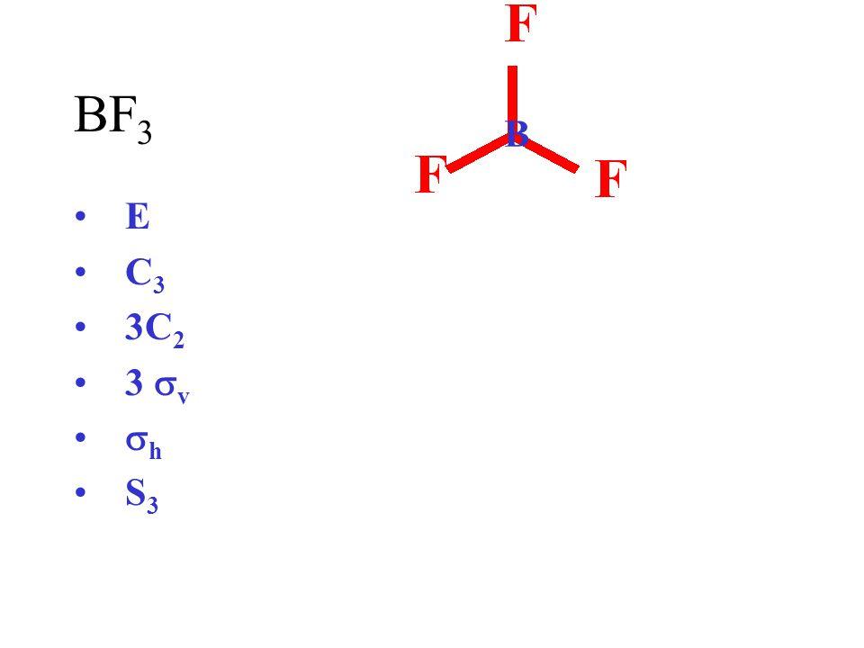 BF3 B E C3 3C2 3 sv sh S3