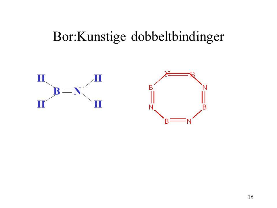 Bor:Kunstige dobbeltbindinger