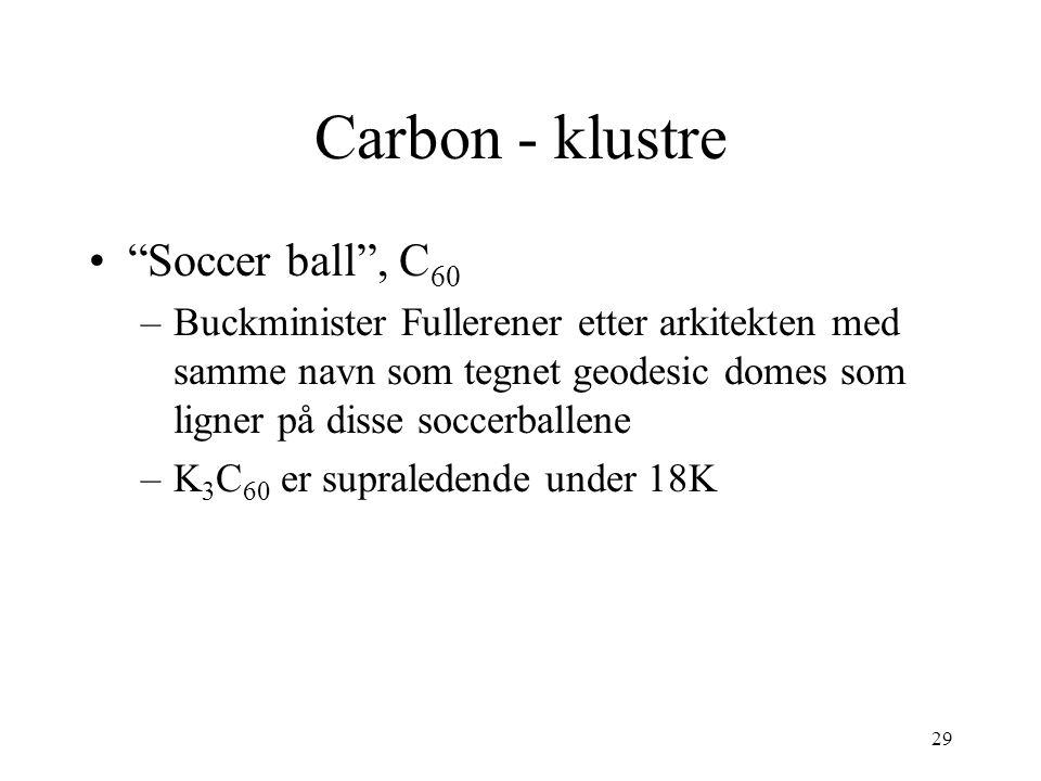Carbon - klustre Soccer ball , C60