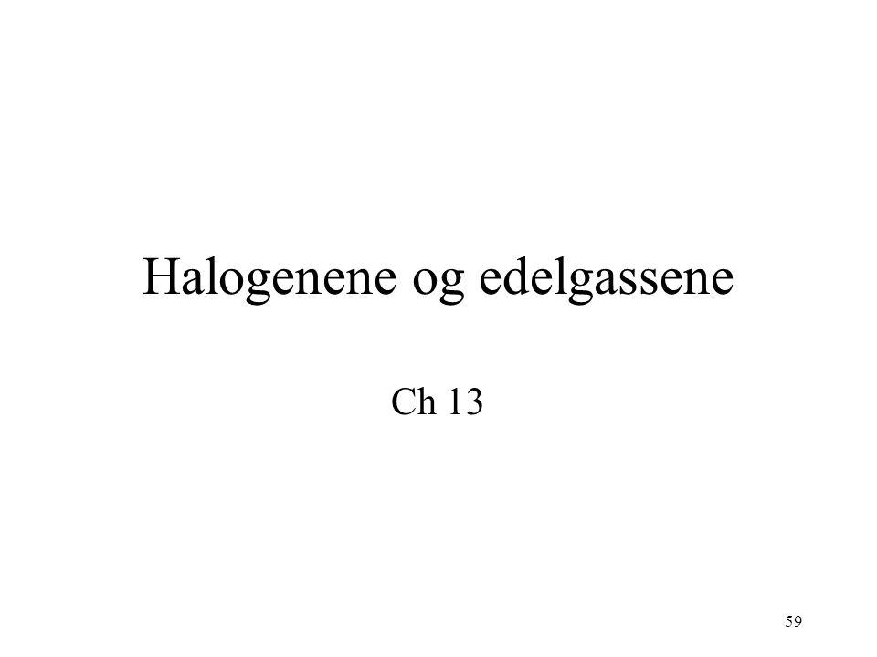 Halogenene og edelgassene
