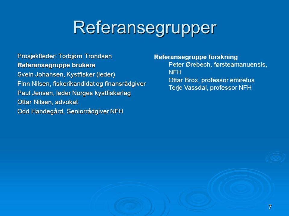 Referansegrupper Prosjektleder: Torbjørn Trondsen