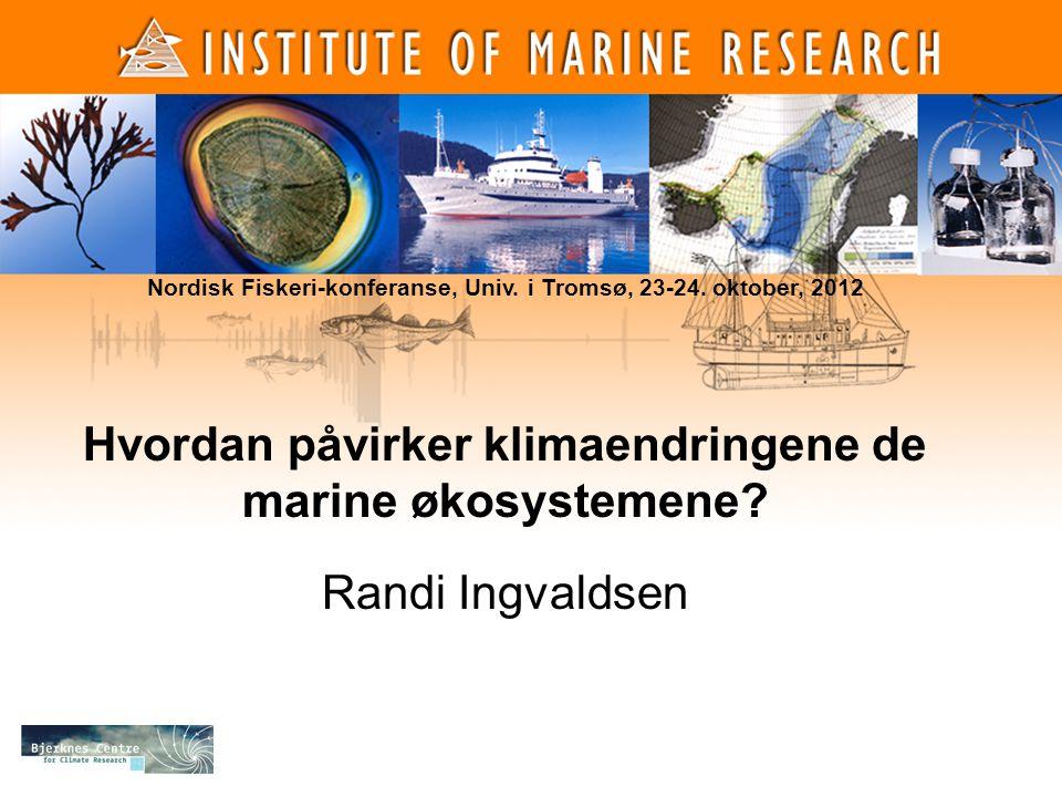Hvordan påvirker klimaendringene de marine økosystemene