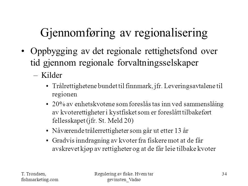 Gjennomføring av regionalisering