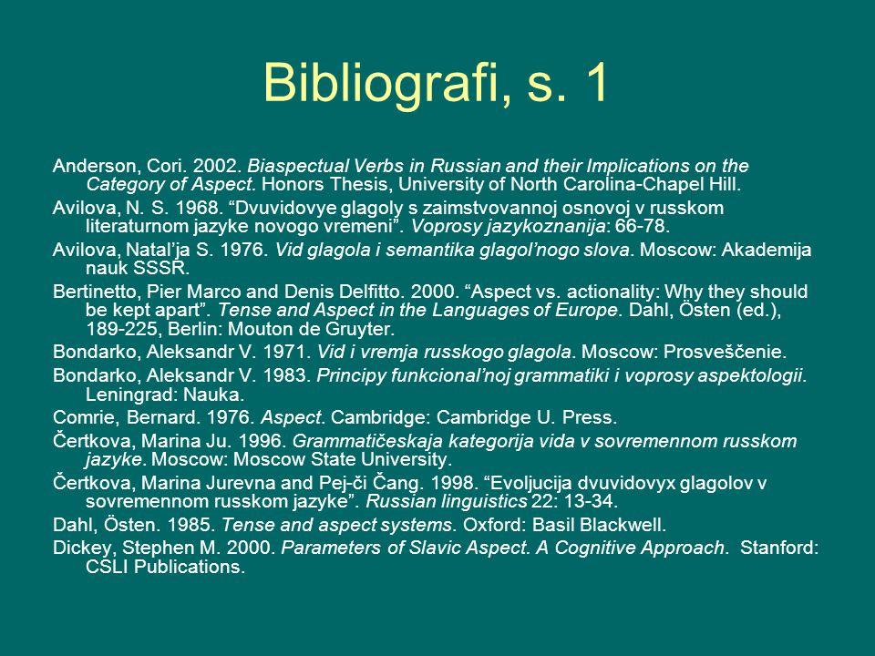 Bibliografi, s. 1