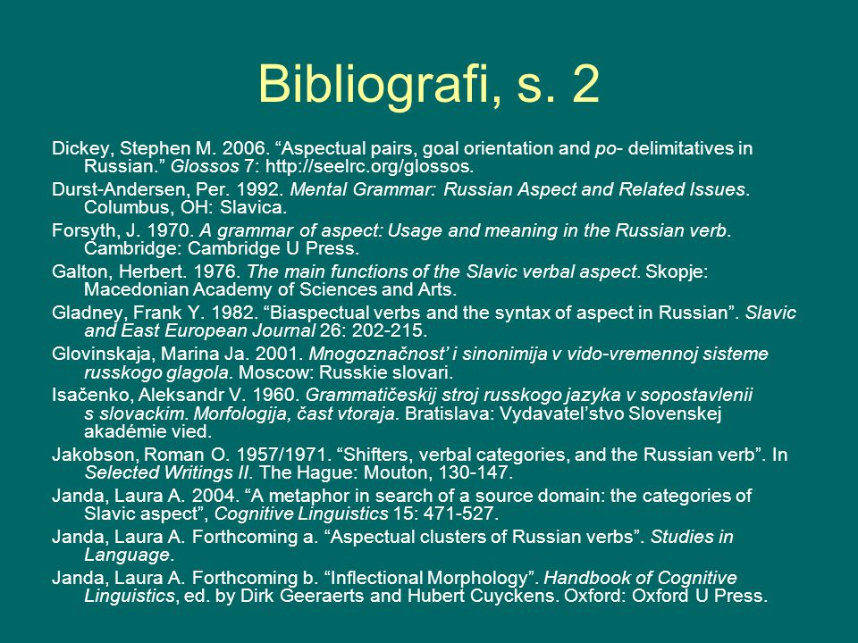 Bibliografi, s. 2