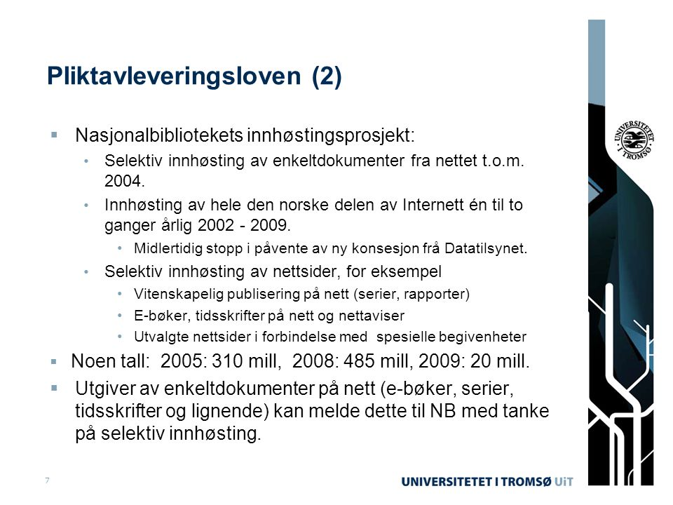 Pliktavleveringsloven (2)
