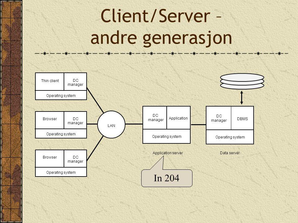 Client/Server – andre generasjon