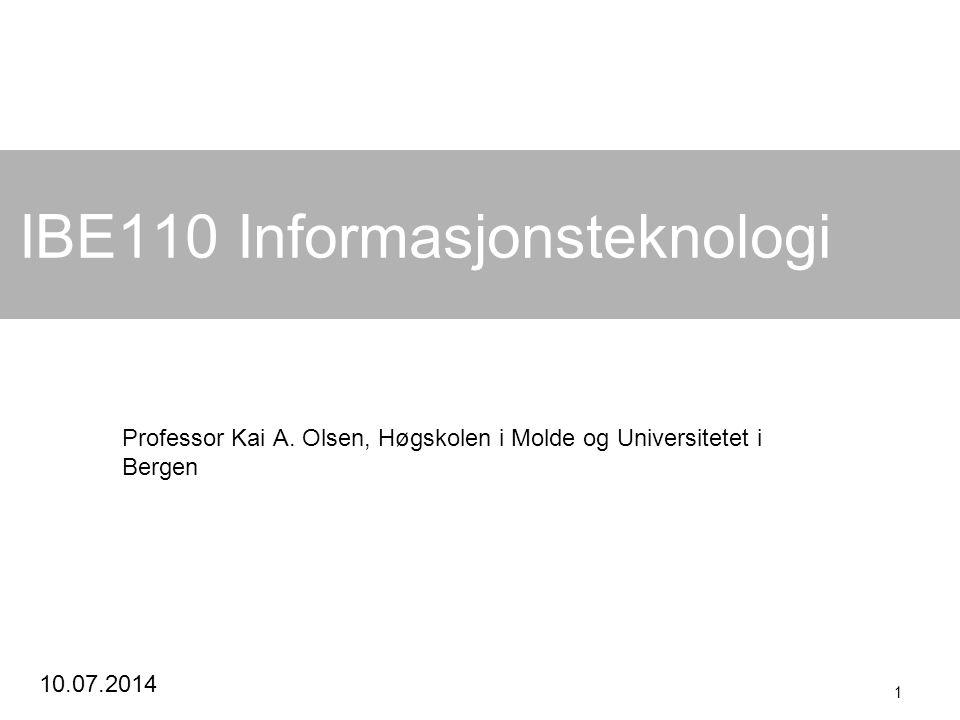 IBE110 Informasjonsteknologi