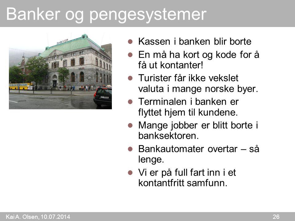 Banker og pengesystemer