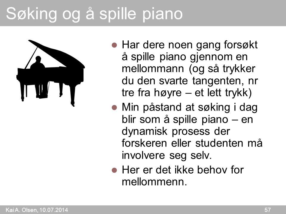 Søking og å spille piano