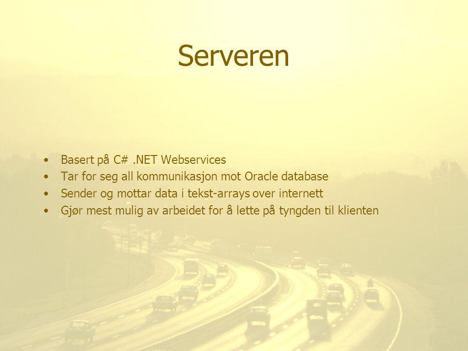 Serveren Basert på C# .NET Webservices