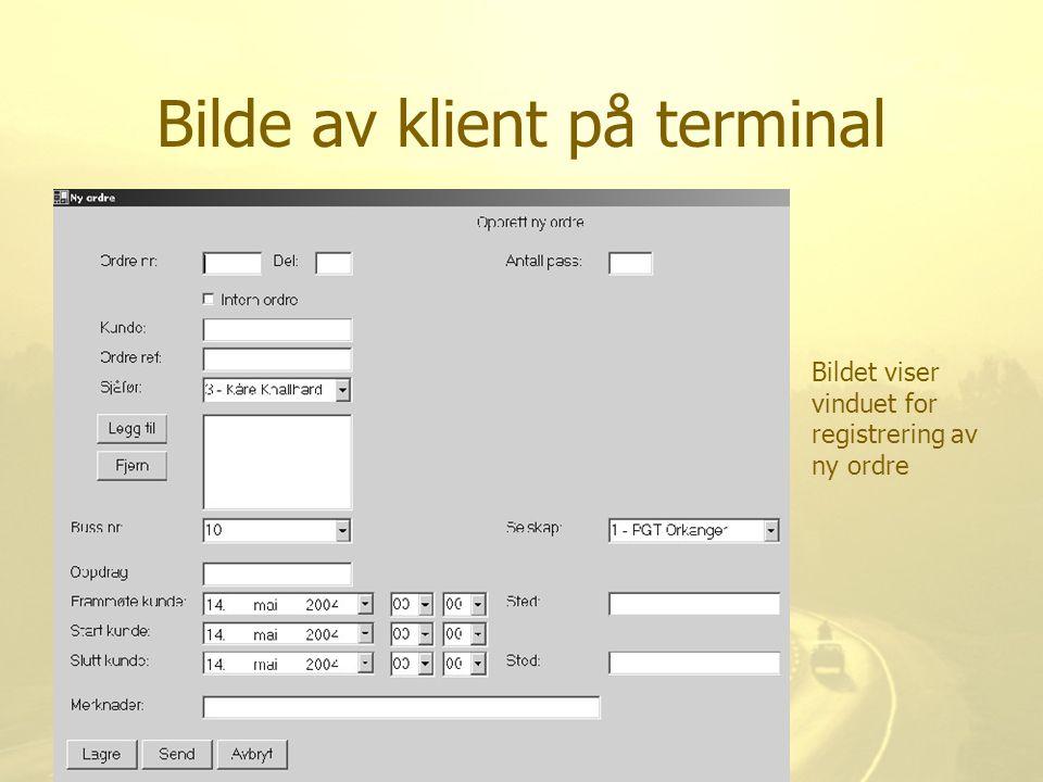 Bilde av klient på terminal