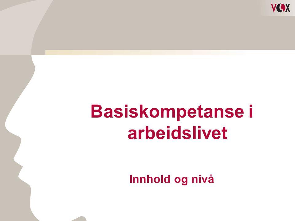 Basiskompetanse i arbeidslivet