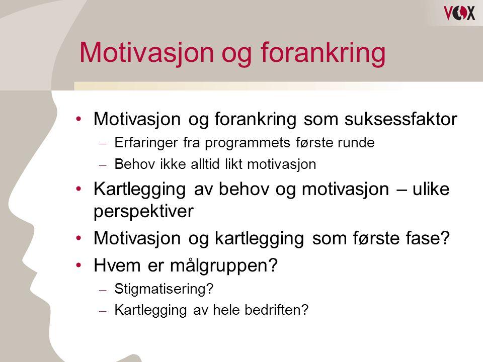 Motivasjon og forankring