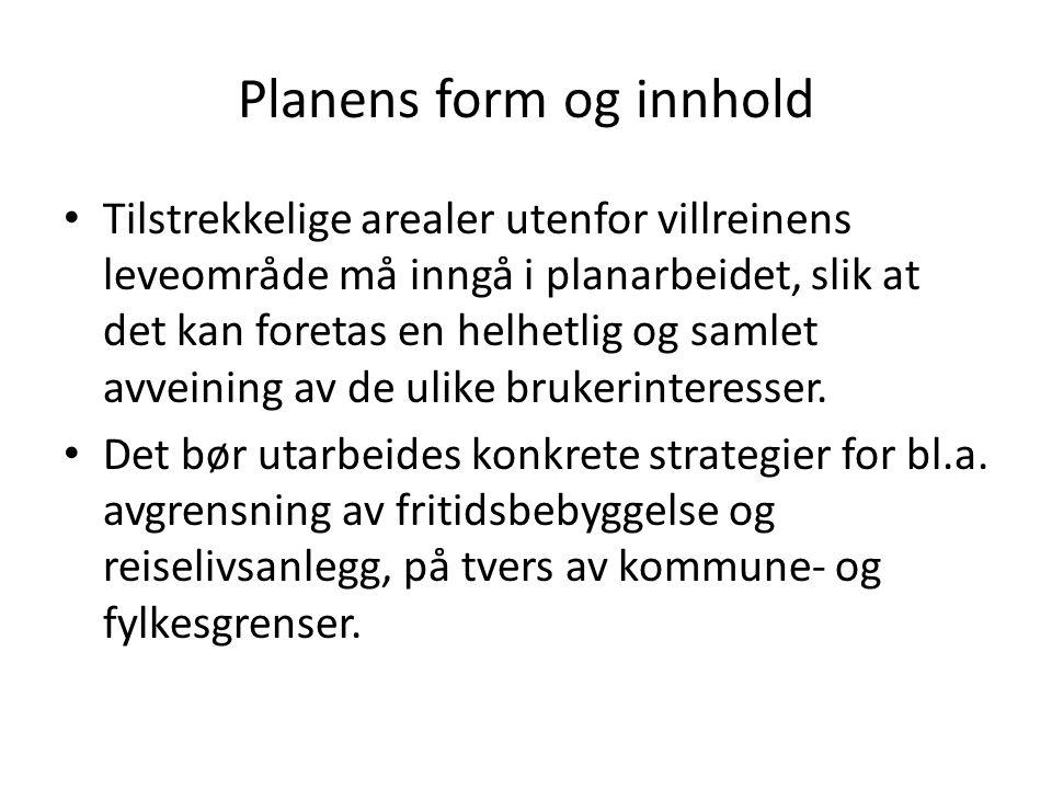 Planens form og innhold