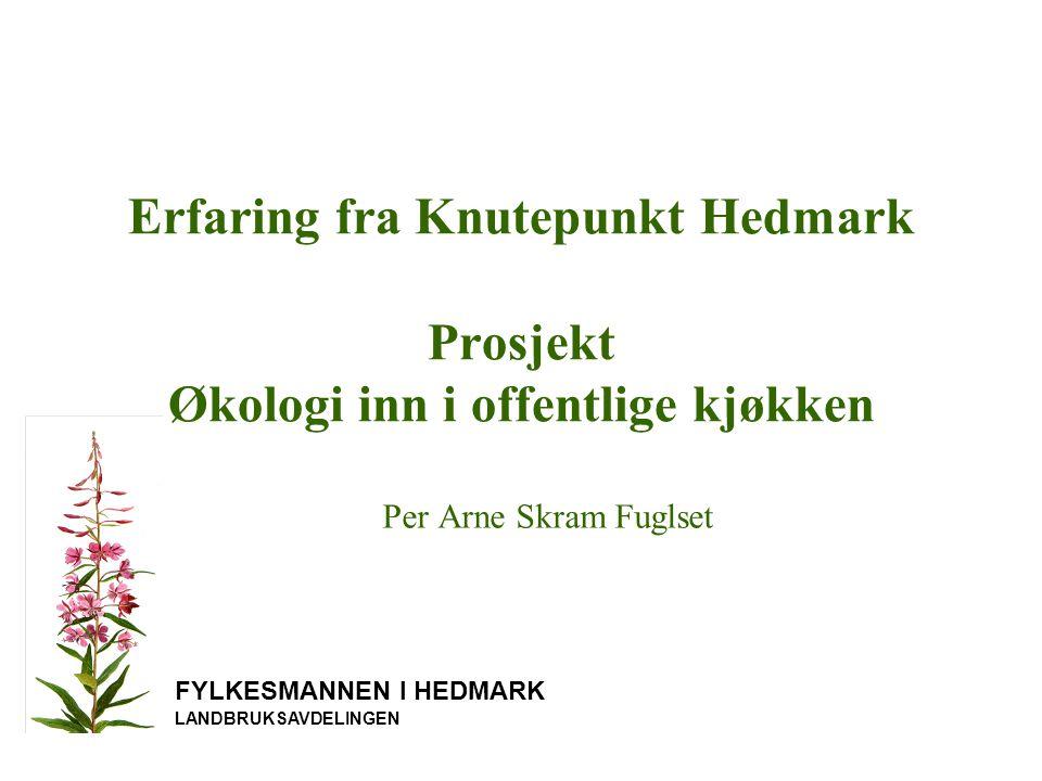Erfaring fra Knutepunkt Hedmark Prosjekt Økologi inn i offentlige kjøkken