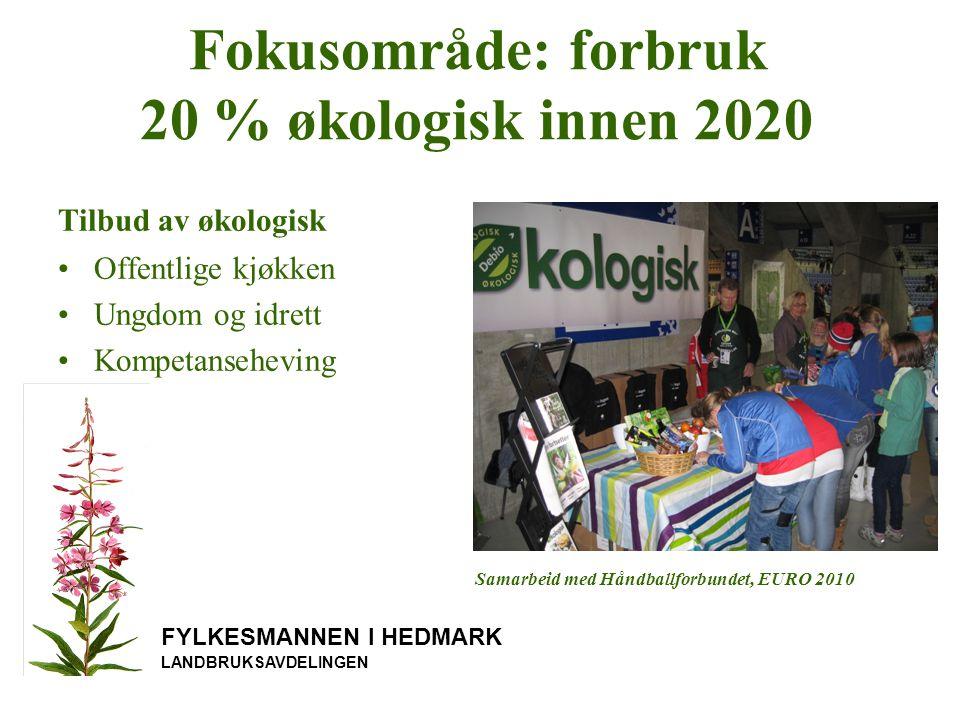Fokusområde: forbruk 20 % økologisk innen 2020
