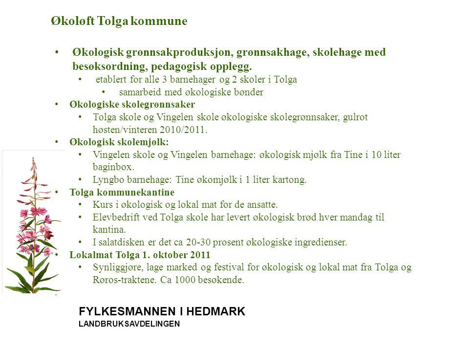 Økoløft Tolga kommune Økologisk grønnsakproduksjon, grønnsakhage, skolehage med besøksordning, pedagogisk opplegg.