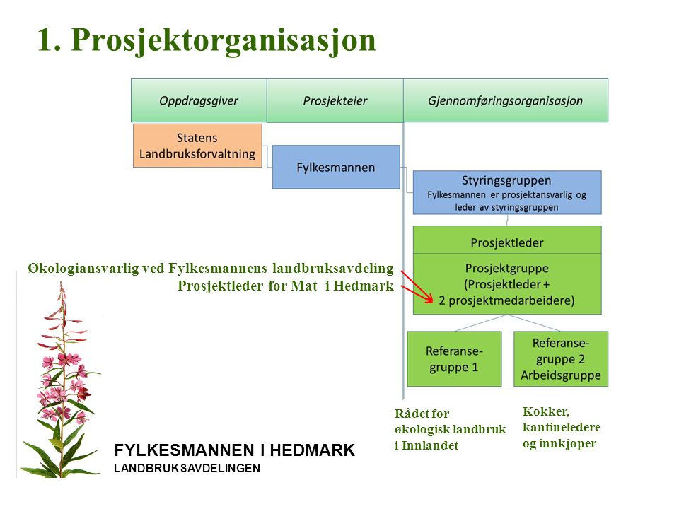 1. Prosjektorganisasjon