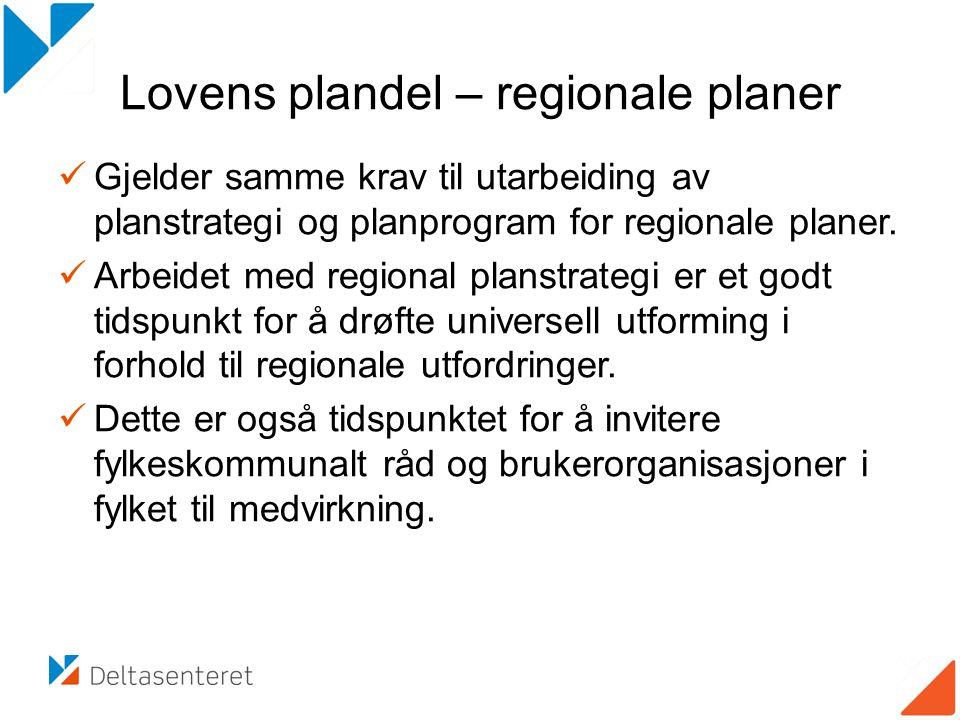 Lovens plandel – regionale planer