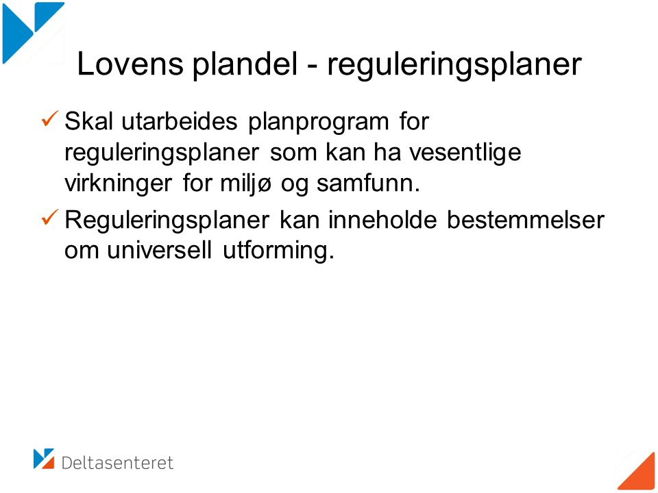 Lovens plandel - reguleringsplaner