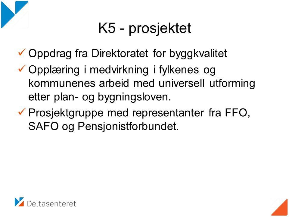 K5 - prosjektet Oppdrag fra Direktoratet for byggkvalitet
