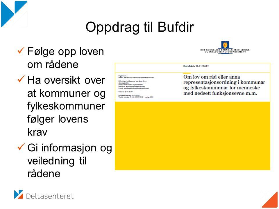 Oppdrag til Bufdir Følge opp loven om rådene