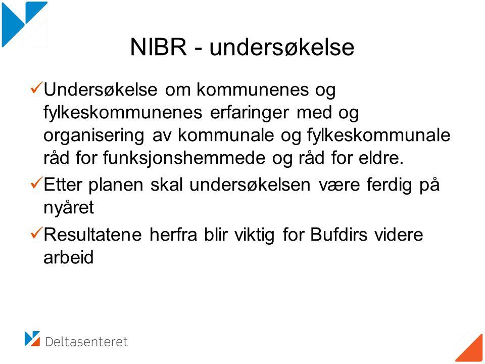 NIBR - undersøkelse