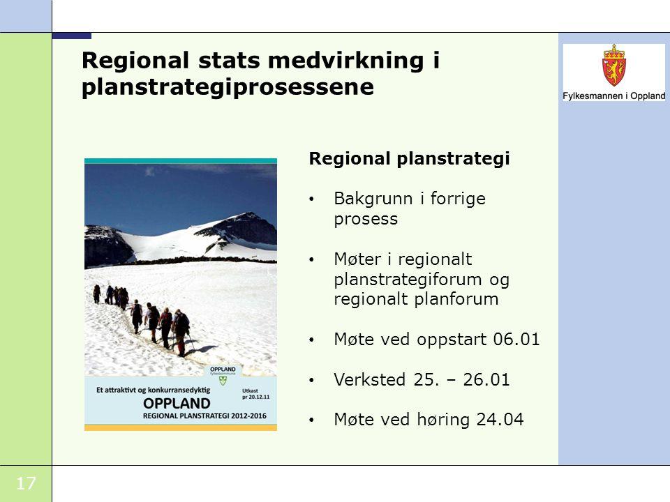 Regional stats medvirkning i planstrategiprosessene