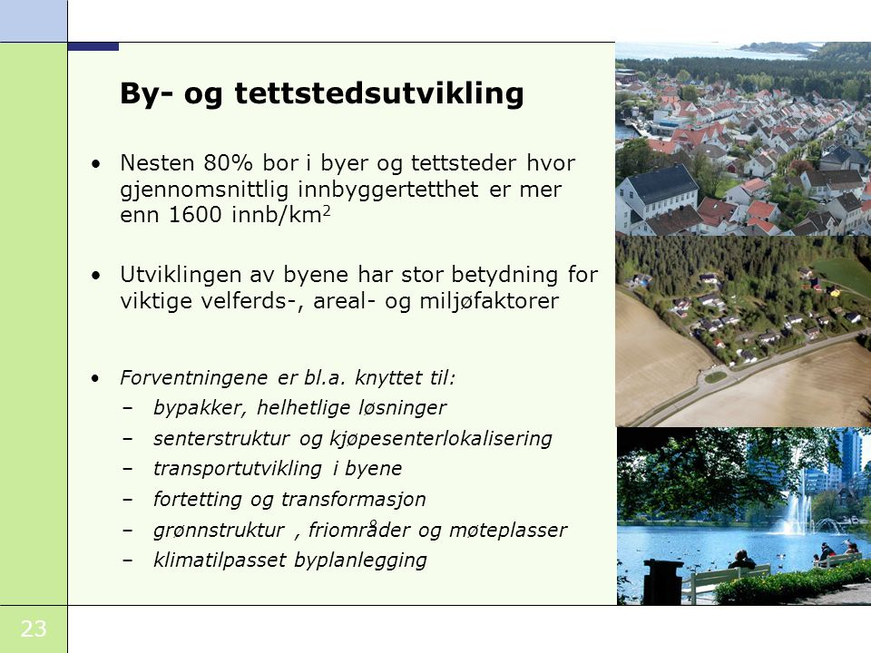 By- og tettstedsutvikling