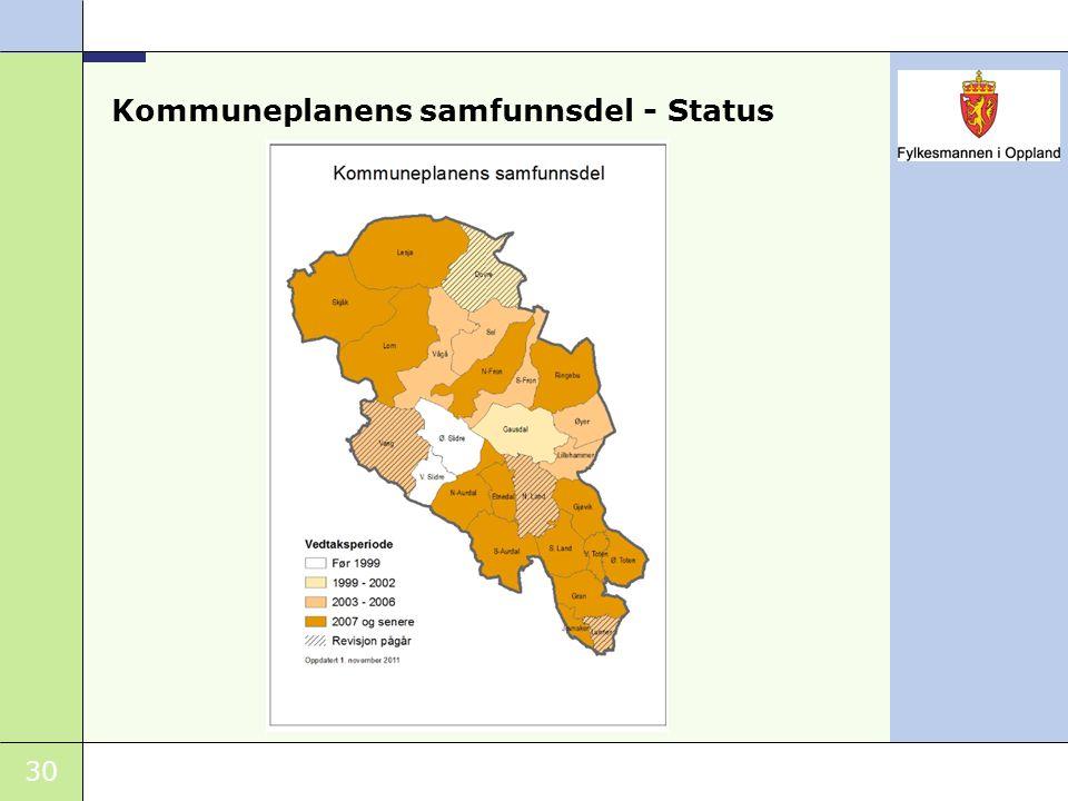 Kommuneplanens samfunnsdel - Status