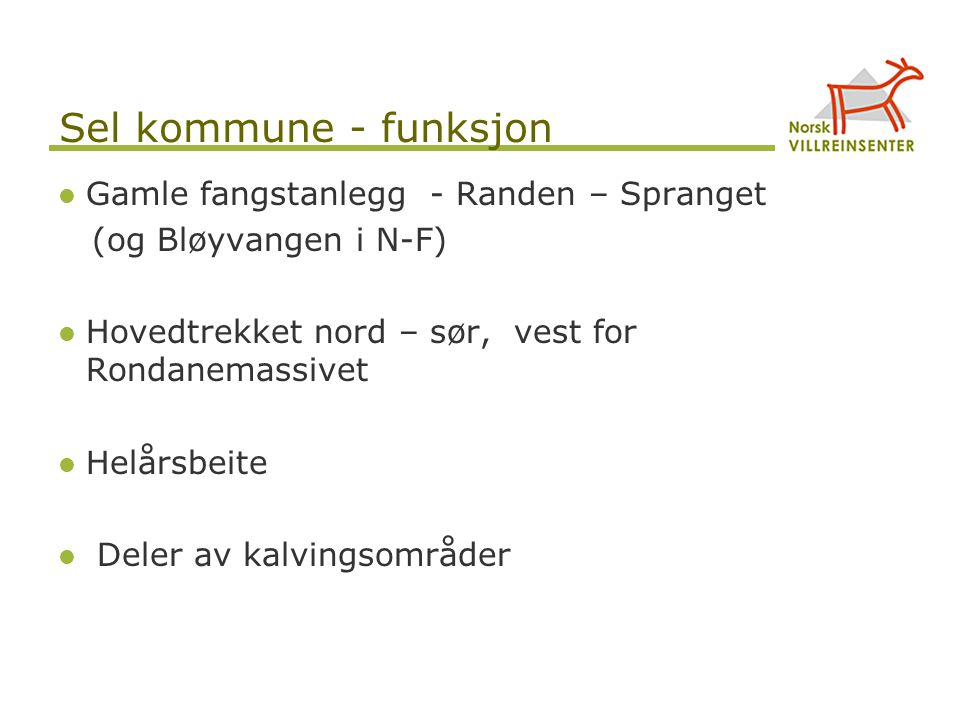 Sel kommune - funksjon Gamle fangstanlegg - Randen – Spranget