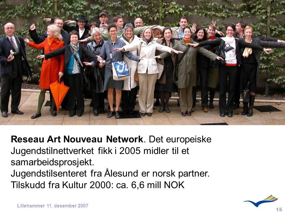 Jugendstilsenteret fra Ålesund er norsk partner.