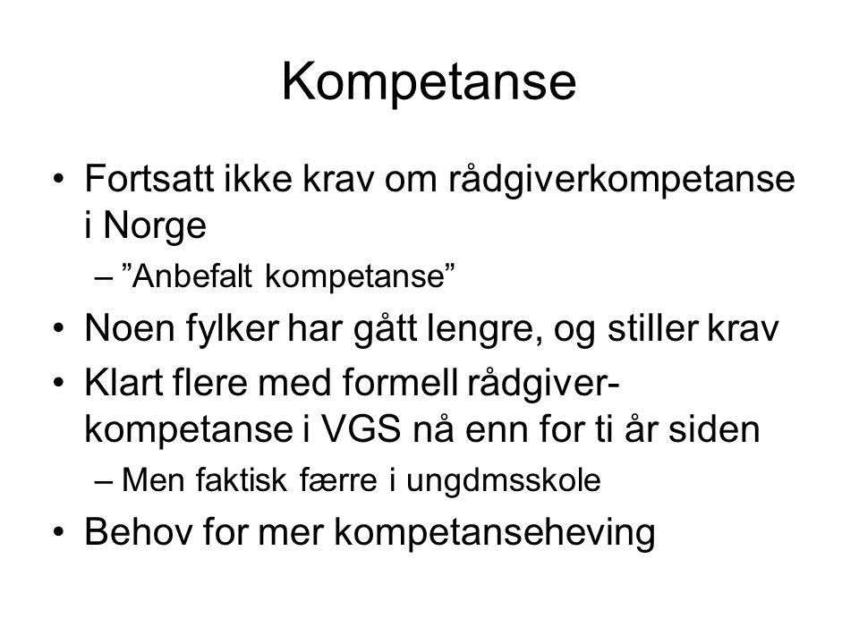 Kompetanse Fortsatt ikke krav om rådgiverkompetanse i Norge